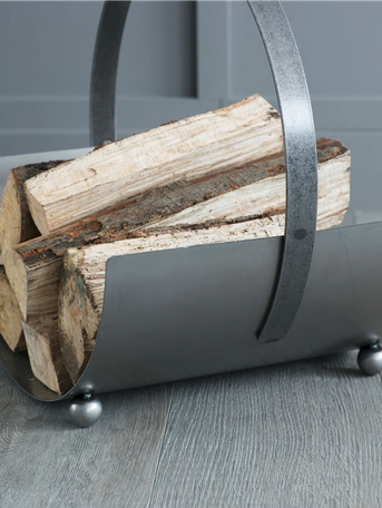 SPECIAL OFFER Round metal log carrier