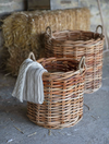 A Set of 2 Kubu rattan baskets SPECIAL OFFER