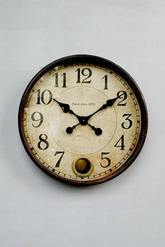 SPECIAL OFFER Metal and glass wall clock with pendulum