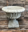 A garden urn in Stone finish