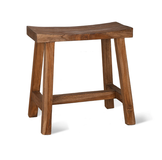 Morgan reclaimed teak stool