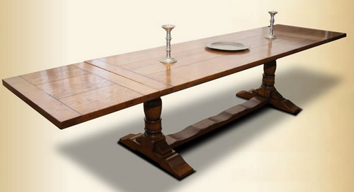 Wadhurst Column Leg English Oak Drawleaf Dining Table