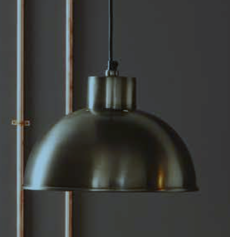 Bistro spun and brushed metal pendant light
