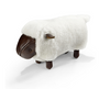 Omersa Sheepskin and Leather Sheep footstool