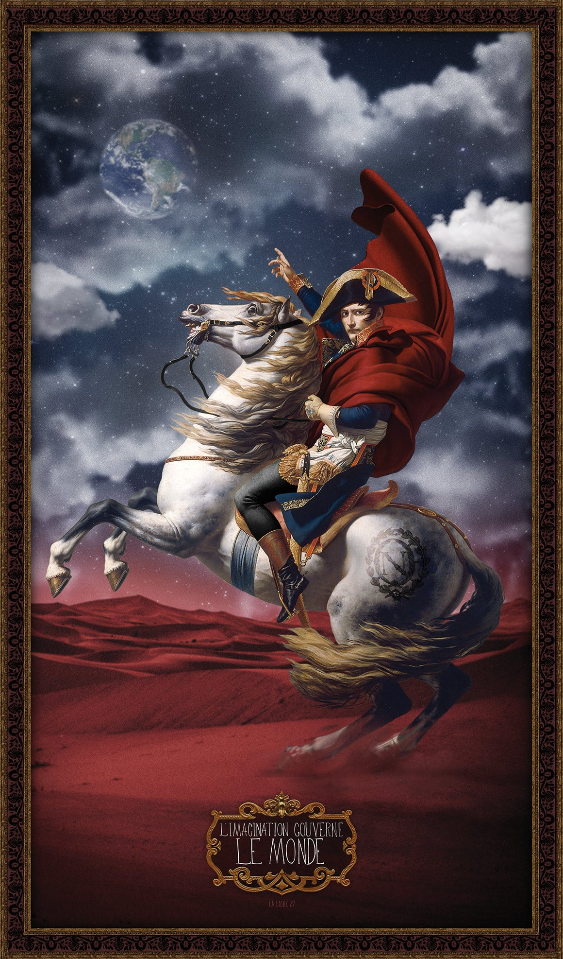 A Wall panel of Napoleon Bonaparte