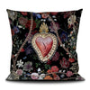 Corazon sacred heart scatter cushion