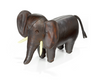 Omersa Leather Elephant footstool