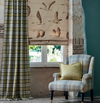 Hand made Roman Blind and Curtains in Sanderson Elysian collection