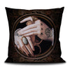 Sword in hand scatter cushion