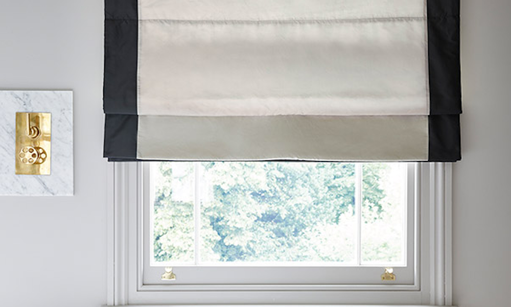 Hand made Roman Blind In James Hare Breeze Faux silk Taffeta