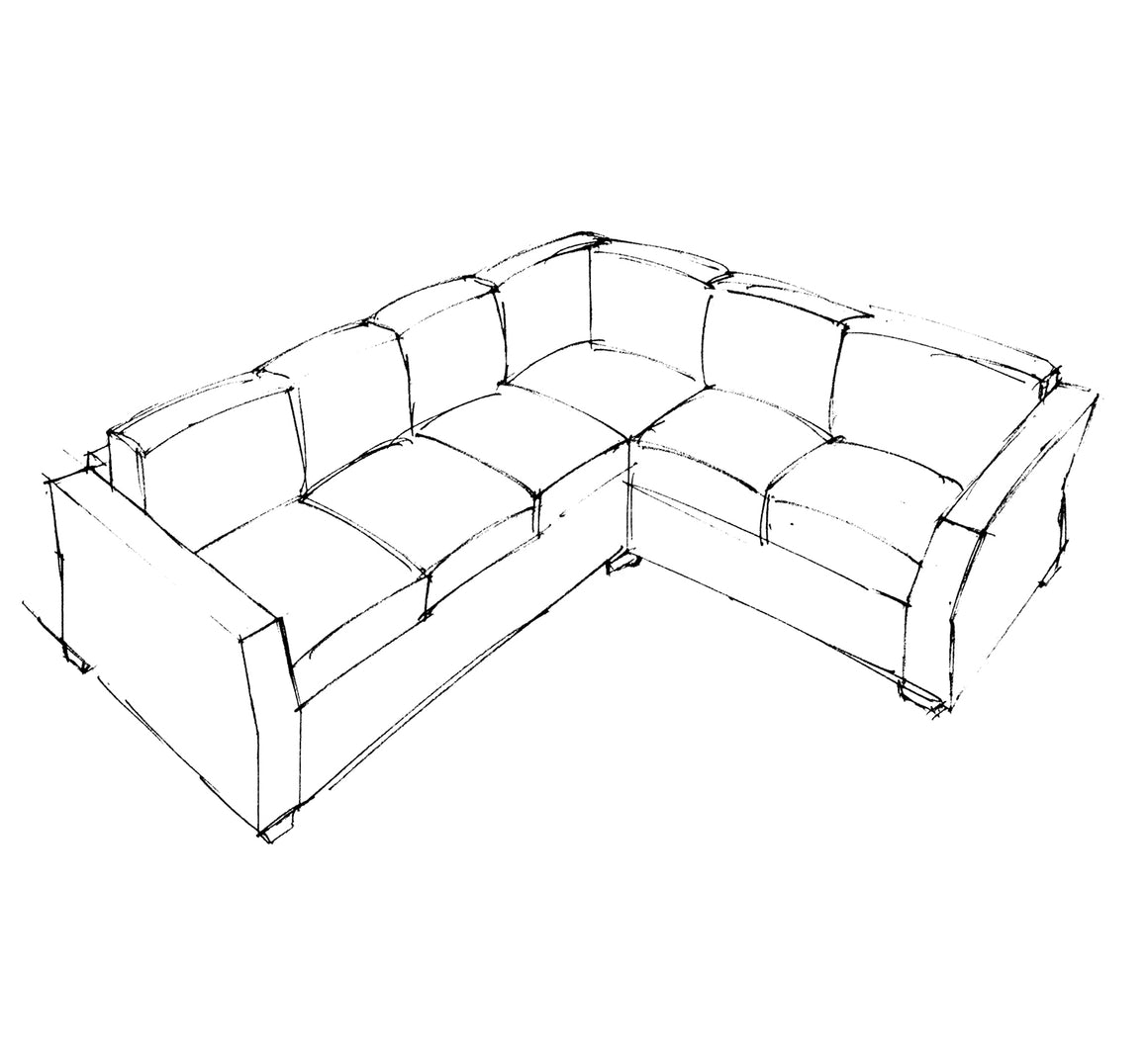 Java Cushion Back Corner Sofa