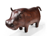 Omersa Leather Hippo Footstool