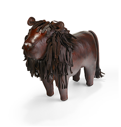 Omersa Leather Lion Footstool