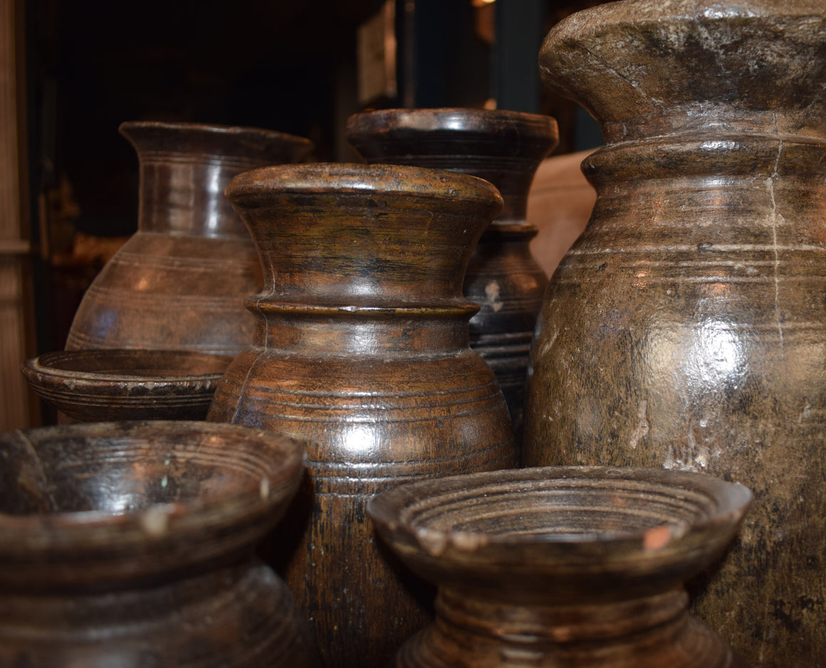 Wooden Loti pot from Nepal