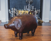 Omersa Leather Piggy Footstool