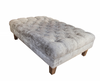 Deep buttoned footstool in Warwick Lovely velvet SALE OFFER