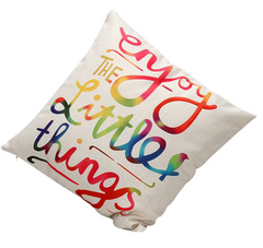 Enjoy the Little Things Pillow cover