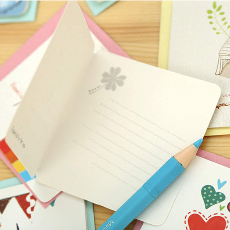 6 Blank Fun Cards with Envelope