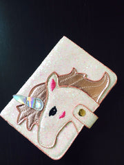 Shiny Pink Unicorn Passport Holder and Luggage Tag