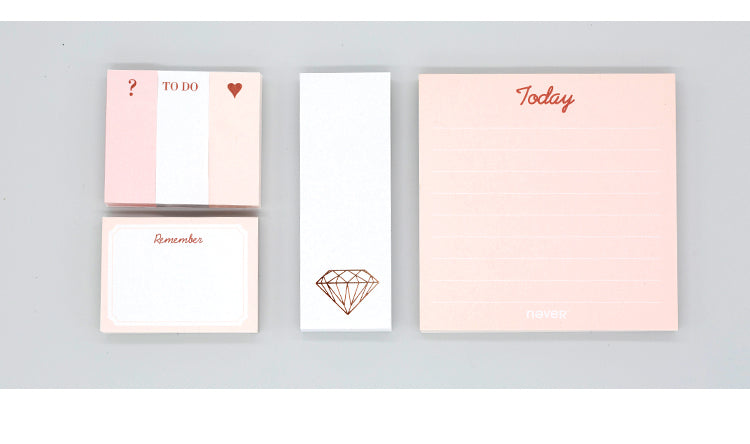 Blush and Gold Memo Pad