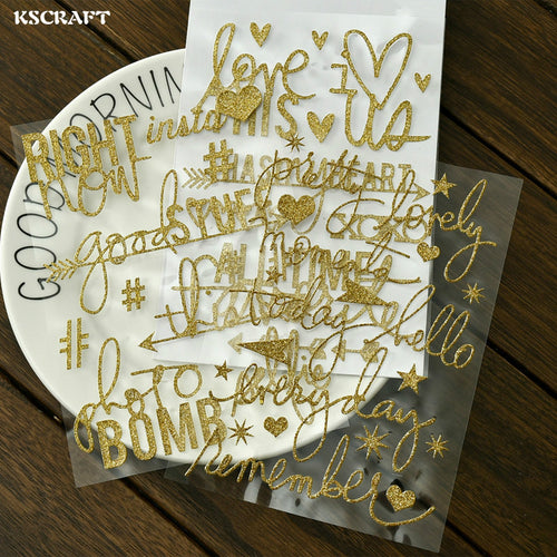 Gold Phrase Tag Stickers