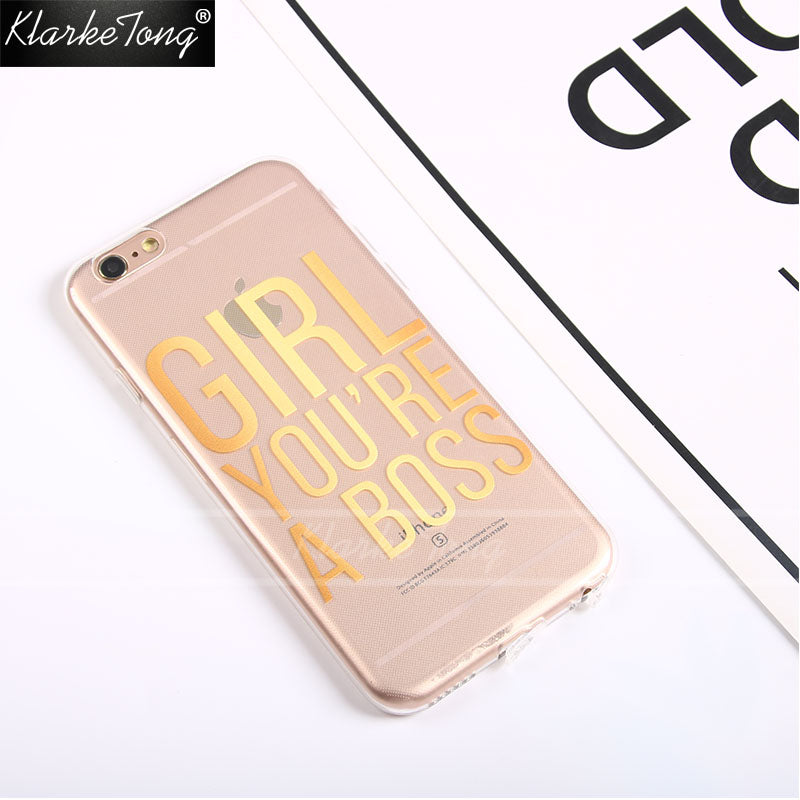 Girl You're the GIRL BOSS Gold Letters Case