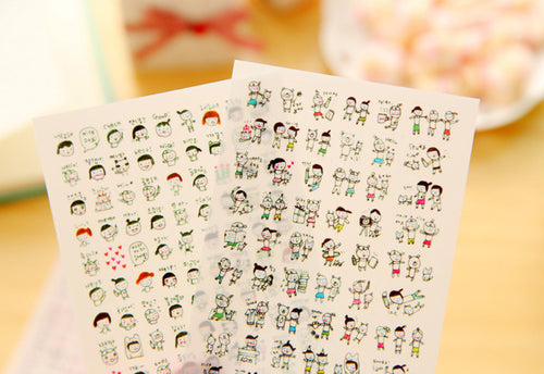 6 Sheets Transparent Planner Stickers