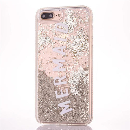 Mermaid Glitter Quicksand Phone Case