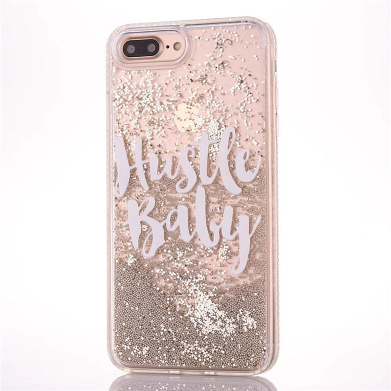 Hustle Baby Glitter Quicksand Phone Case