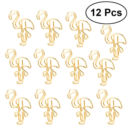 12pcs Flamingo Paper Clips