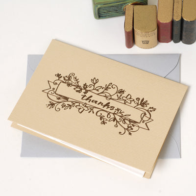 Gold Foil Calligraphy Cards