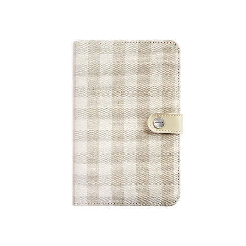 2018 A5 & A6 Beige Linen Classic Cover Travel Journal Binder Office Dairy Journal Notebook Planner