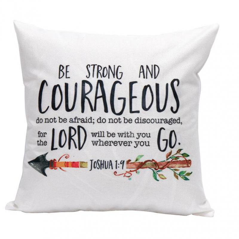 Be Strong Bible Verse Throw Pillow