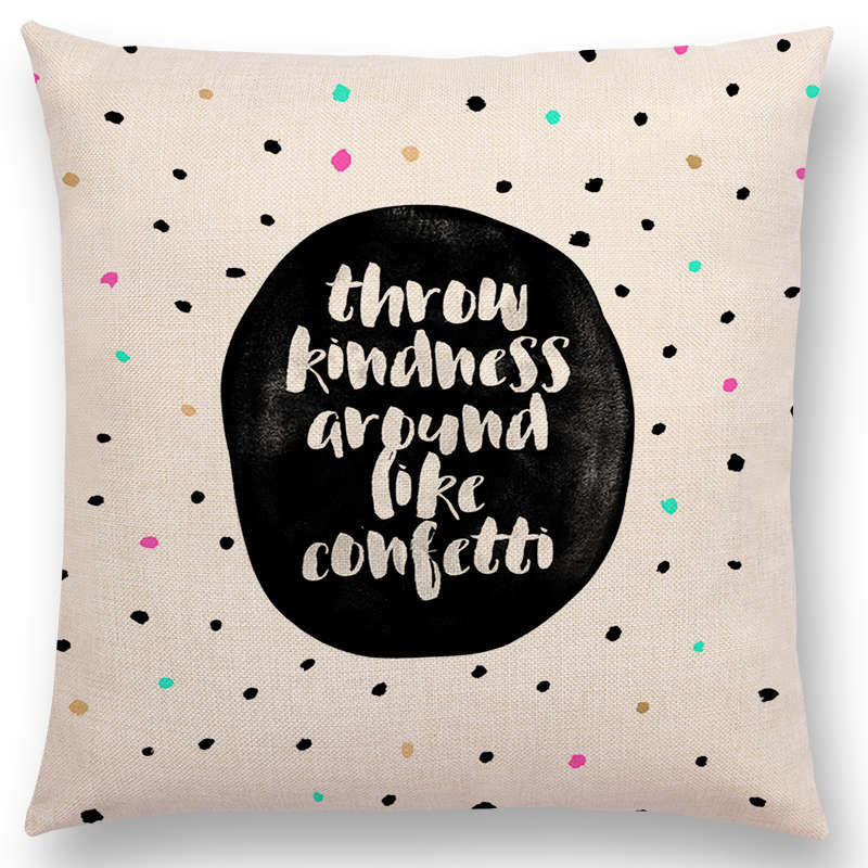 Kindness Confetti Throw Pillow