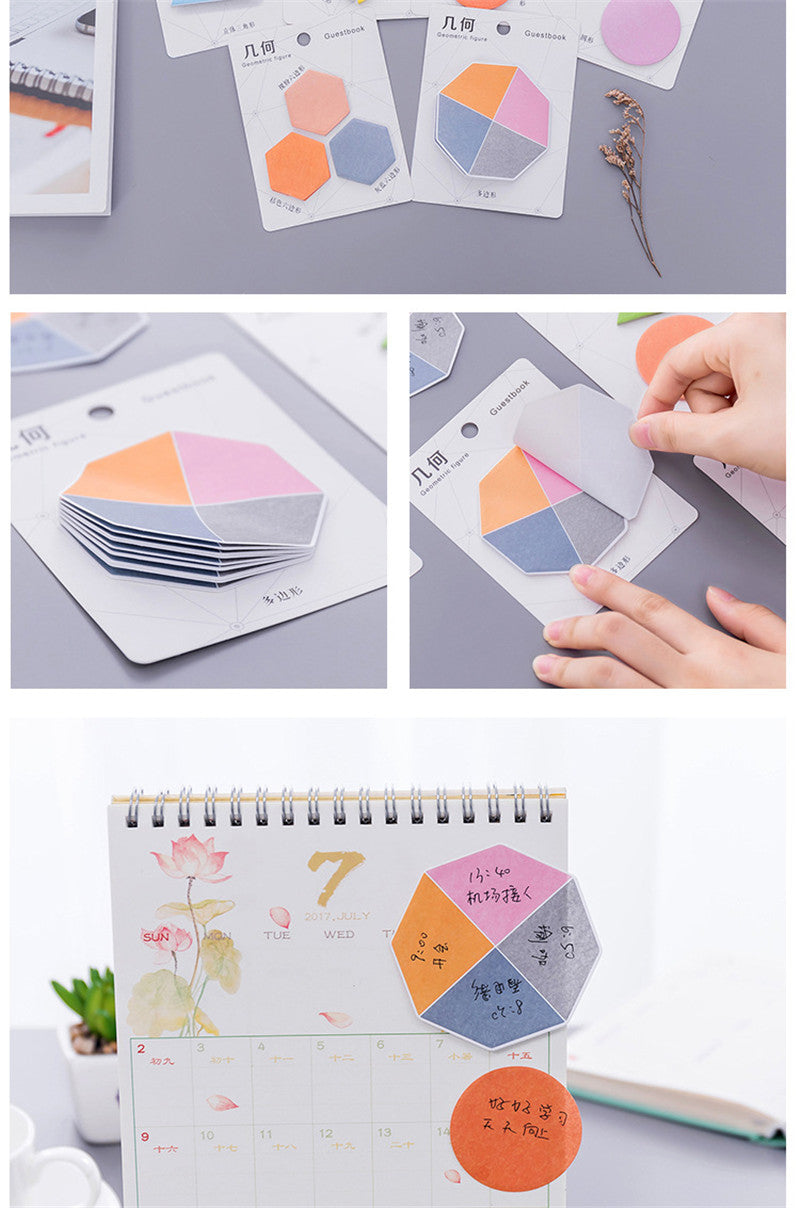 Colorful Geometry Post its
