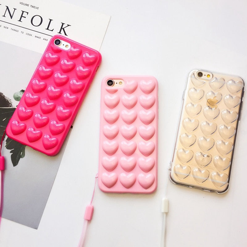 3D Love Heart Candy Phone Case