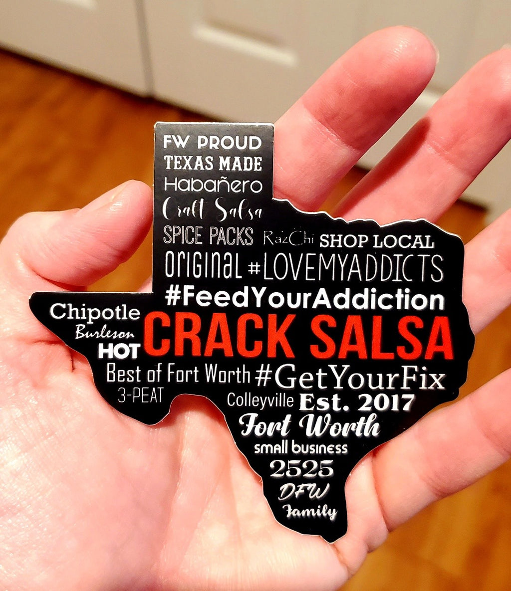 Crack Salsa TEXAS Decal