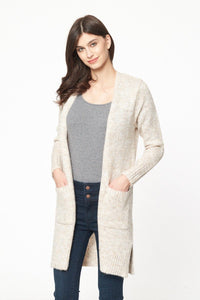 Sleek and Long Cozy Cardigan with Pockets