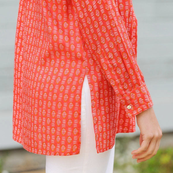 Rayon Printed V Neck Tunic