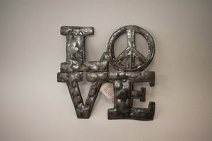 FairTrade Recyled Metal Wall Art - LOVE