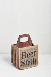 Beer Snob beer caddy, recycled materials, 6 pack