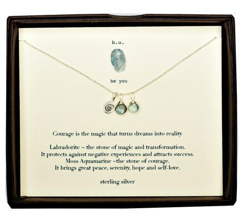 Sterling Courage Necklace