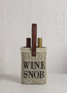 Recycled Double Wine Bag - Multiple Great Sayings