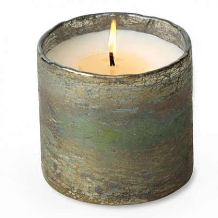 Artisan Blown Glass Tumbler Candles - Mossy Green (Click for available scents)