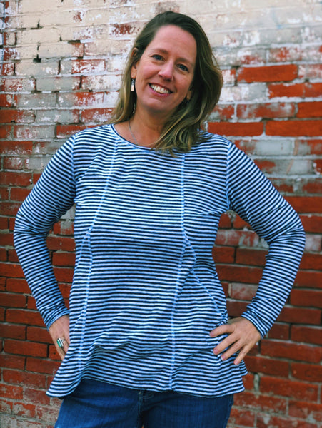 Nautical Striped Tunic with Pockets