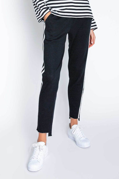 Black Striped Jogger Pant