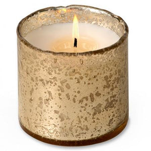 Artisan Blown Glass Tumbler Candles -  Gold (click for available scents)