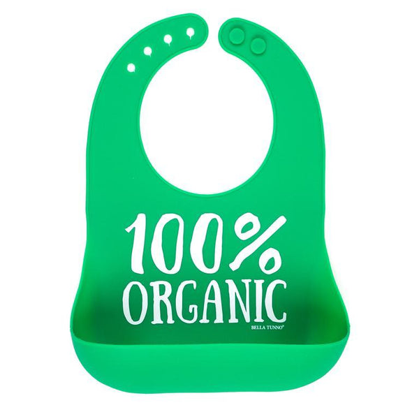 Adjustable Baby Bib with Snack Pouch - 100% Organic
