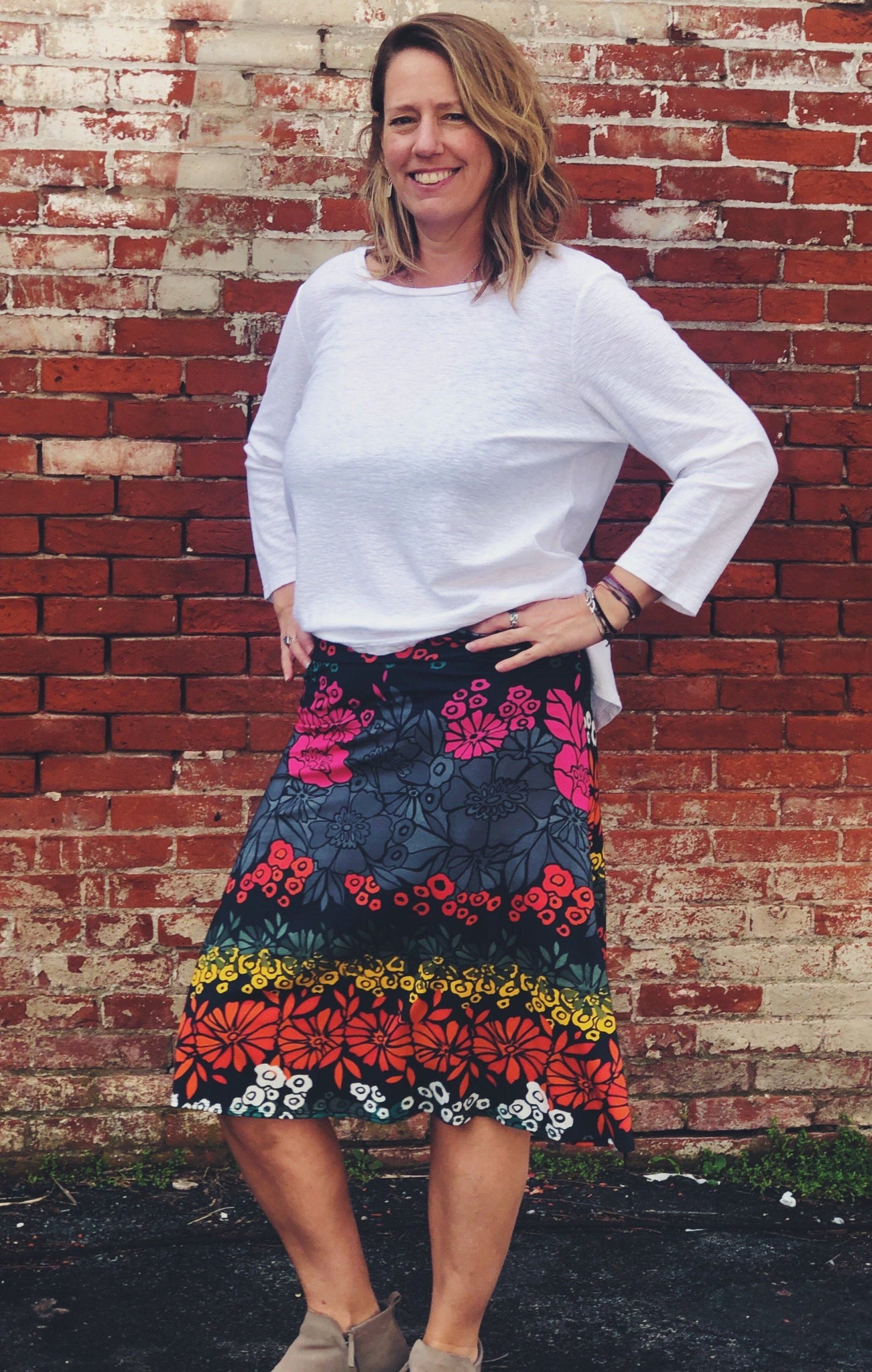 Floral Printed Angela Skirt