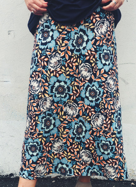 Long Floral Printed Mia Skirt